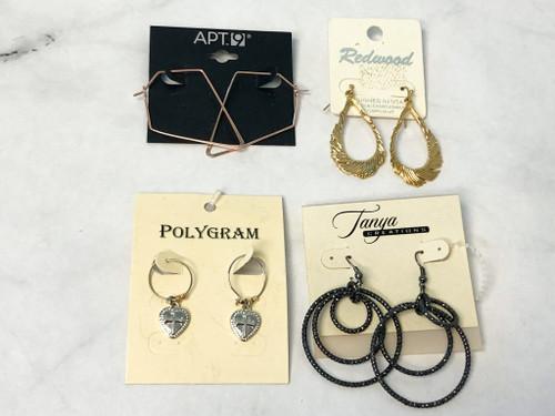 Mixed Earrings Lot | 4 Pairs