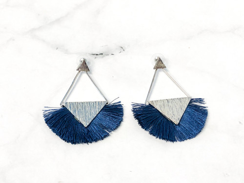 Charming Charlie Blue Fringe Earrings | MSRP $12 | One Pair
