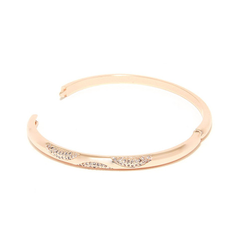 Charming Charlie Hinged Bracelet w/ Semi Circle Pave Details | 1 Piece