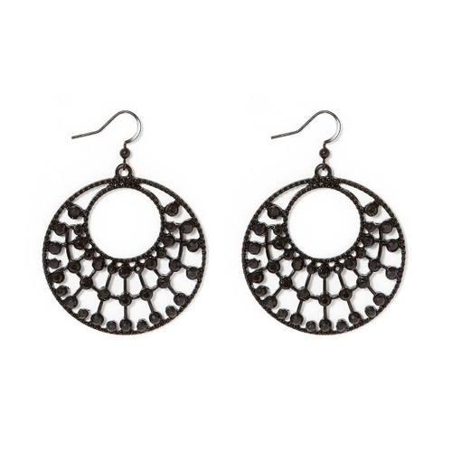 Charming Charlie Round Cutout Drop Dangle Earrings