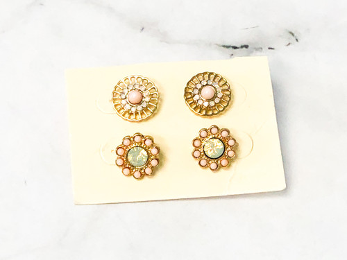 Fun and Flirty Studs | 2 Pairs