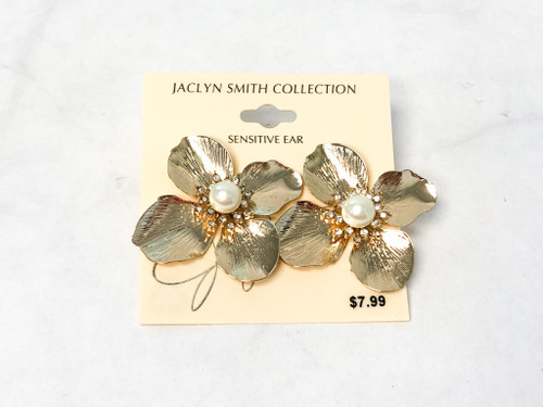 Large Statement Floral Studs