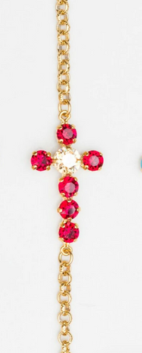 Finished 6mm & 8.5mm Off Center Cross Necklace