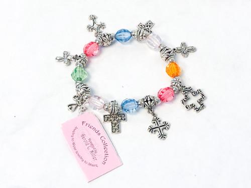Colorful Cross Stretch Bracelet