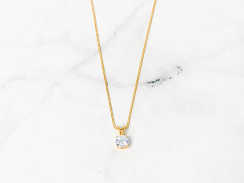 Simple Crystal Necklace