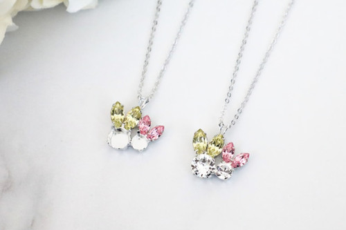 6mm & 8.5mm | Large and Small Bunny Crystal Rhinestone Necklace | One Piece