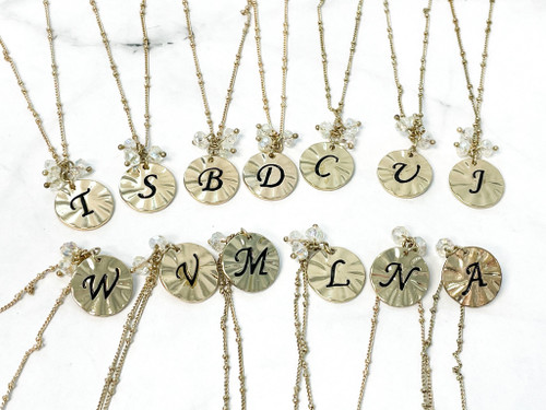Initial Necklace (Comes w/ Box) | Letter M