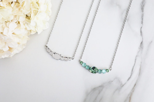 6mm, 8.5mm, & 18mm x 13mm Oval | Mixed Size Pendant Necklace | One Piece