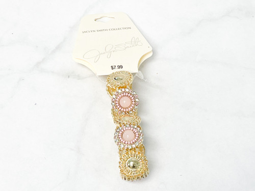 Jaclyn Smith Collection Pink and Gold Bracelet