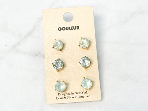 Couleur Studs | 3 Pairs