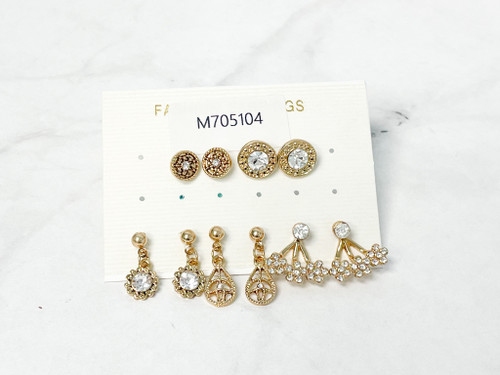 Gold Stud Pack | 5 Pairs