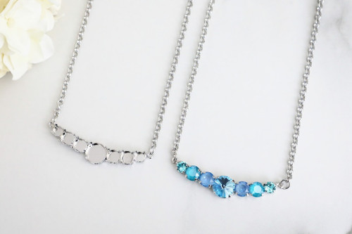 6mm, 8.5mm, & 12mm Round | Mixed Size Pendant Necklace | One Piece