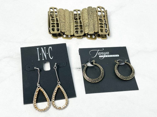 Earring and Bracelet 3 Pack Bundle