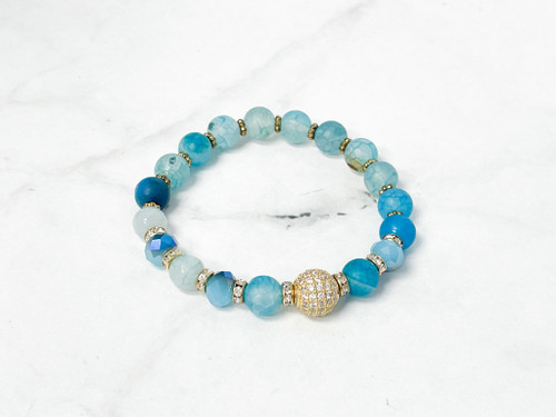 Turquoise Waters Beaded Bracelet