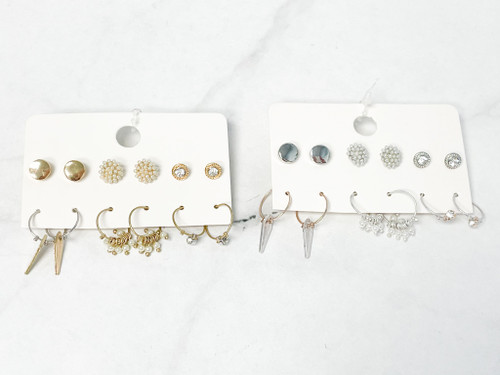 Darling Earring Pack | 6 Pairs | Rhodium or Gold