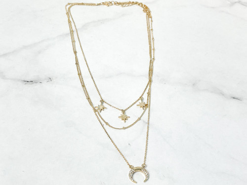Celestial 3 Layer Necklace