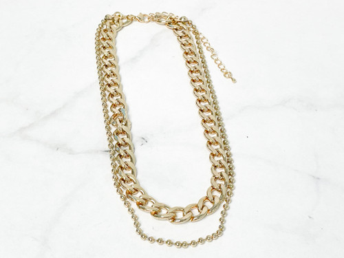 2 Layer Chunky Chain Necklace