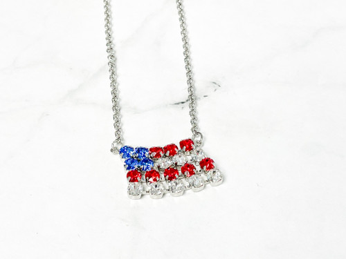 Finished American Flag Necklace