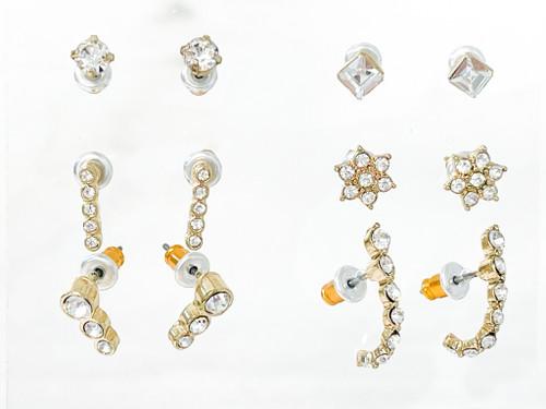 Crystal Studs | 6 Pairs