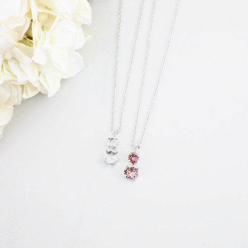 6mm & 8.5mm | Alternating Two Setting Drop On Necklace Chain | One Piece