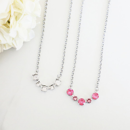 6mm & 8.5mm | Alternating Five Setting Necklace | One Piece