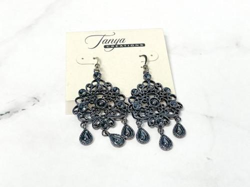 Hematite Statement Earrings