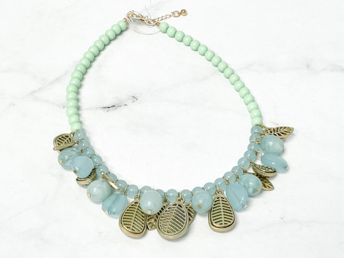Leaf Beaded Necklace