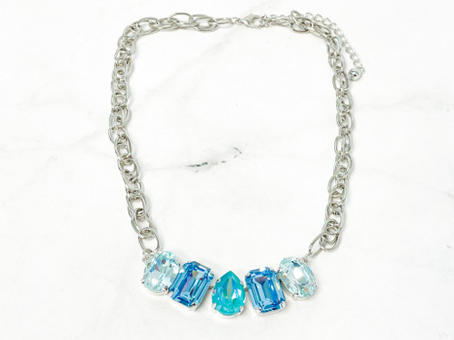 Seaside Necklace made with Swarovski Crystals