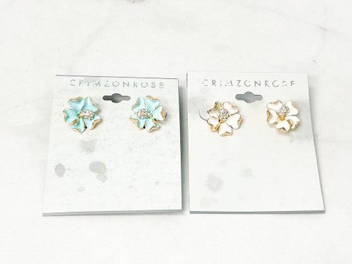 Two Floral Studs