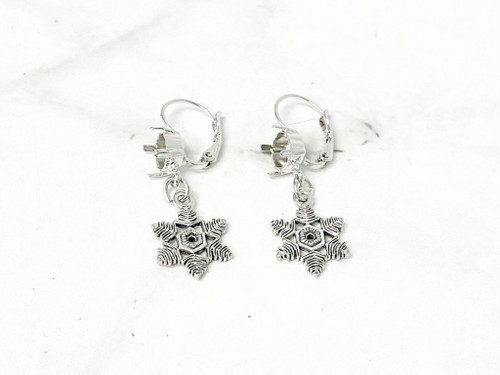 8.5mm | Limited Edition Snowflake Drop Earrings | One Pair