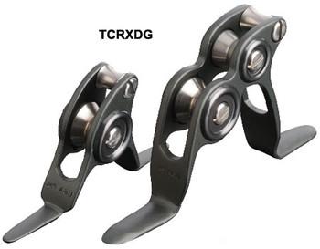 TCRXDG - 80+lb Roller Guides - Titanium Chrome