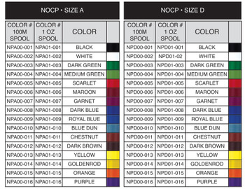 Fuji NOCP Poly Thread - NEW COLORS!