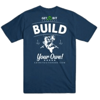 Build Your Own Side Fish T-shirt Indigo