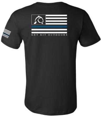 Get Bit Blue Line Short Sleeve T-Shirt