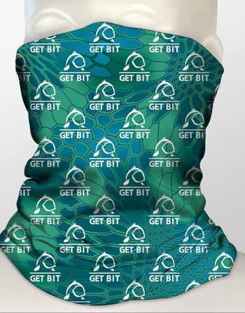Get Bit Blue Green Gaiter
