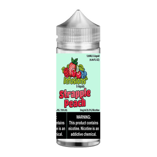 Infusions Strapple Peach Chubby Gorilla 120ML