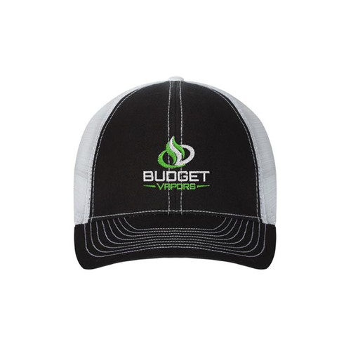 Budget Vapors Hat Black White