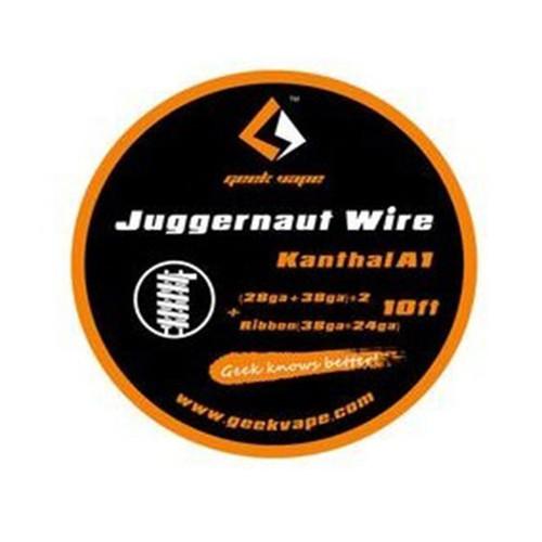 Geek Vape Juggernaut Wire Kanthal A1 28GA + 38GA*2 + Ribbon 38GA*24GA 10 Feet