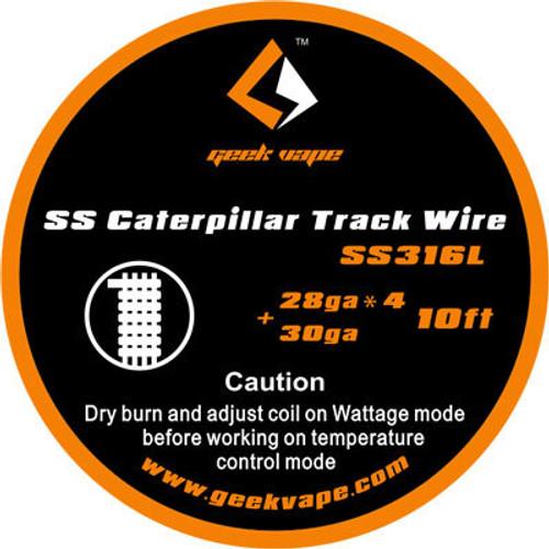 Geek Vape SS Caterpillar Track Wire SS316L 28GA*4 + 30GA 10 Feet