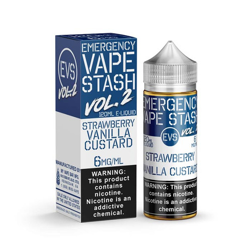 Emergency Vape Stash Vol. 2 Strawberry Vanilla Custard 120ML