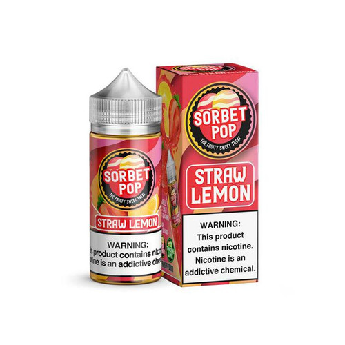 Sorbet Pop Straw Lemon 100ML