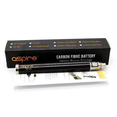 Aspire CF VV 1600mAh Battery Black Carbon