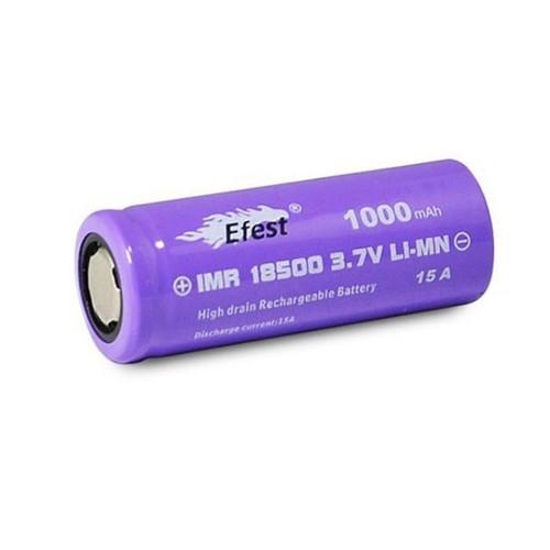 Efest IMR 18500 1000mAh 15A Battery