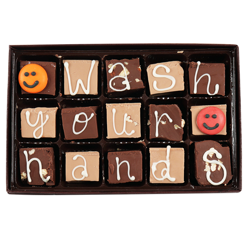 Wash your Hands! Medium Swiss Fudge Box