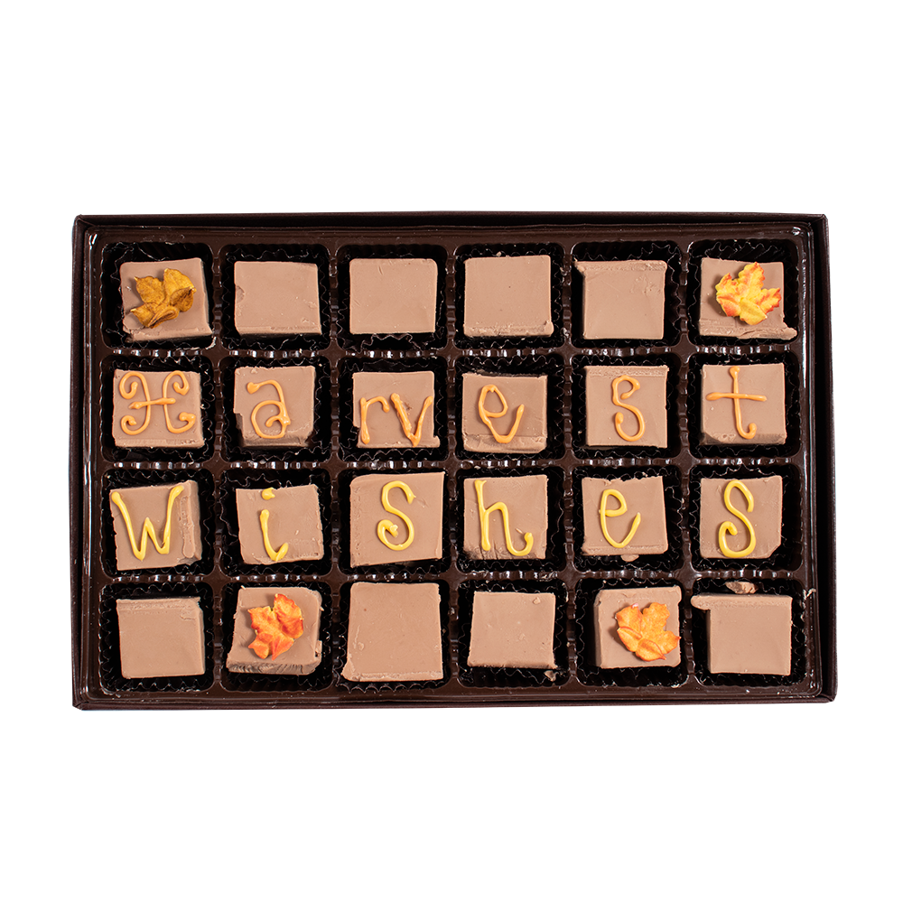 Harvest Wishes - Large Custom Swiss Fudge Box