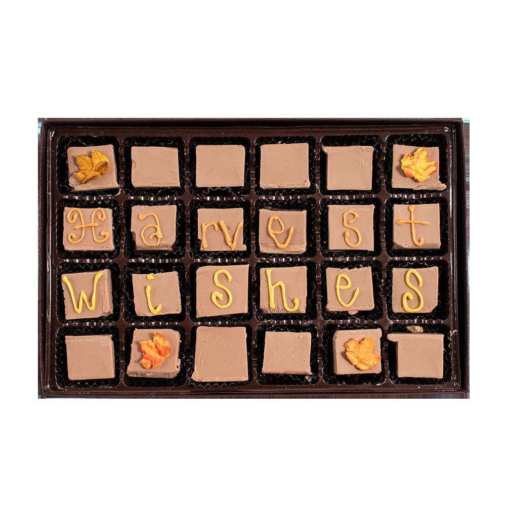 Harvest Wishes - Large Custom Swiss Fudge Box