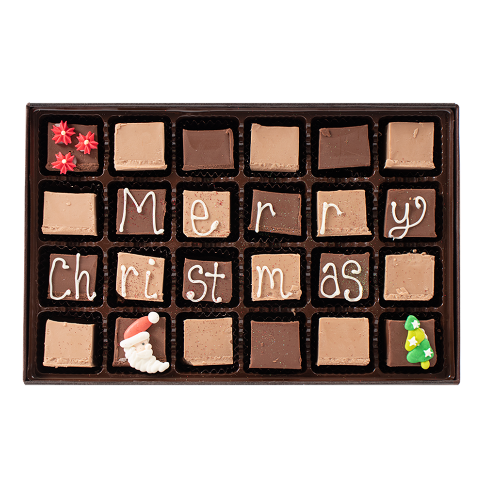 Merry Christmas - Large Custom Swiss Fudge Box