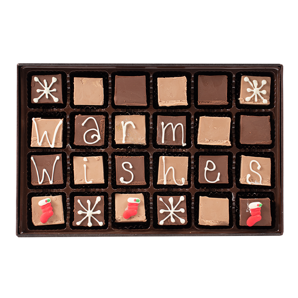 Warm Wishes - Large Custom Swiss Fudge Box