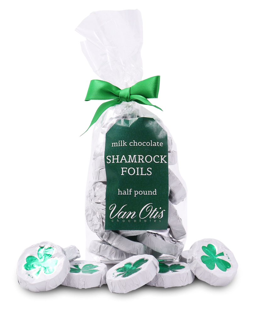 Milk Chocolate Shamrock Foils