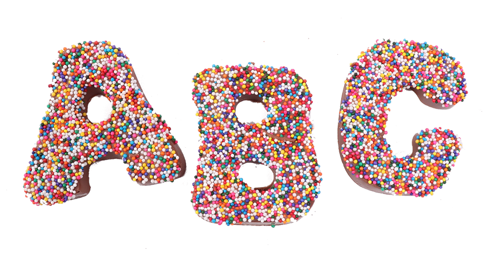 Milk Chocolate Alphabet Impression